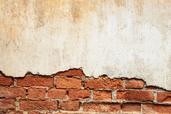 Moldy brick wall background (Krunja) Tags: old white abstract color detail brick texture wall sepia vintage thailand design la high ancient peeling pattern gloomy fort decay background space grunge rustic cement plaster exotic brickwall worn backgrounds strong imagination weathered rough shambles decrepit damaged fortress remorse exposed element rugged dilapidated brickwork textured grungy protect solid imaginative moldy cracking changwatloei tambonchiangkhan