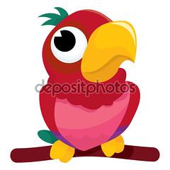 Cute Cartoon Parrot (meganflorescastaeda) Tags: animalthemes bird cartoon cheerful cute fun happiness macaw multicoloured parakeet perching pets vector illustration vectorillustration cartoonillustration cartoonvectorillustration