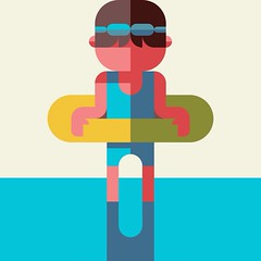swim (Nemury) Tags: patchworkapp かわいい 子ども kawaii flatdesign design graphic child こども illustration