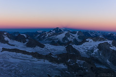 First light at Grand Combin and Montblanc at ascent to Dent Blanche (Bernhard_Thum) Tags: alps nature sunrise wallis elitephotography landscapesdreams planart250 planar502zf
