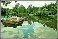 Au bord du lac (Les photos de LN) Tags: lac paysage reflets calme barques srnit dtente pdalos