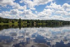 Summer mirror (anek07) Tags: summer sky lake water clouds reflections wonderful mirror vatten sommar sj spegel underbart strarten