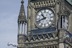 Peace tower Clock, almost 11, ready for the noon show on Canada Day (Stephen Gardiner) Tags: ottawa ontario 2016 canadaday parliamenthill canada july1 celebration pentax k3ii 100300