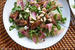 Caramelized Figs and Arugula Salad (lyudavitaya) Tags: arugula blue caramel cheese fig gastrik prosciutto radish salad
