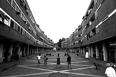 Roma Villaggio olimpico 1960. Piazza Grecia. Oggi (iana) Tags: villaggioolimpico roma olimpiadi 1960 bn bw