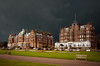 The Grand and the Metropole Folkestone (Cockedhat1) Tags: thegrand metropole hotels theleas contrasts darkclouds approachingstorm sunshinehighlights folkestone edwardiansplendour cloudscape overcast