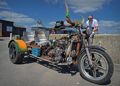 Well, At least he parked it next to a skip... (Harleynik Rides Again.) Tags: trike rat skip junk harleynikridesagain nikon df