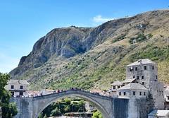 The Old Bridge, Mostar. (chiaramaggio) Tags: urban explore holiday summer travel trip bosniaandherzegovina mostar river bridge oldtown town old