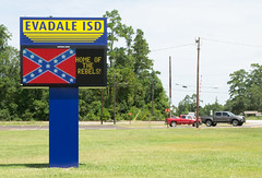 Nurturing a Heritage of Hate? Evadale ISD 1608111128 (Patrick Feller) Tags: heritage hate evadale rebels high school isd independent district confederate flag insignia coat arms states america east texas csa civil war jim crow racist jasper county confederacy dylann roof kkk ku klux klan battle slavery segregation heritageofhate heritagenothate board superintendent sports champions baseball basketball racism graduation state 2000 2001 westrock company corporation paper mill employer employment tx segregated black africanamerican rights emblem crest kepi cap hat crossed sword saber de facto demographics
