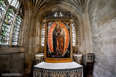 """Madonna in the Rosary"" by Gert van Lon c. 1512-20 Wood Panel Altar Piece (hoobgoobliin) Tags: fujifilmxe2 samyang samyang8mmf28umciifisheyelens fujifilm robcharles hoobgoobliin mary madonna child jesus queenofheaven rosary fisheye"