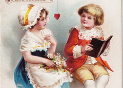 ELLEN CLAPSADDLE CUPID ANGELS PASSION CUTE VALENTINE KIDS A book that tells of Lovers TRUE - LOVE IS IN THE AIR International Art Card Series No 46571 (UpNorth Memories - Donald (Don) Harrison) Tags: vintage antique postcard rppc don harrison upnorth memories upnorth memories upnorthmemories michigan history heritage travel tourism michigan roadside restaurants cafes motels hotels tourist stops travel trailer parks campgrounds cottages cabins roadside entertainment natural wonders attractions usa puremichigan