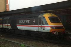 43084, Bournemouth, March 3rd 1993 (Southsea_Matt) Tags: station train railway bournemouth intercity hst dvt highspeedtrain class43 intercity125 43084 drivingvantrailer swaloow