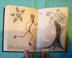 Passion To Run (trishahillery) Tags: pen ink sketch journal doodle celtic draw runner