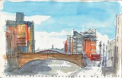 Trinity Bridge, Manchester looking north east 21-3-15
