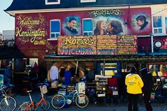 Romeo's Juice Bar (mrksaari) Tags: toronto canada bar mural fuji market juice romeo fujifilm kensington x100s