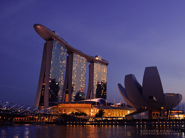 Marina Bay Sand Hotel and Art Science Museum