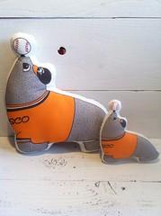 Lou Seal Giants Mascot Pillow Plush