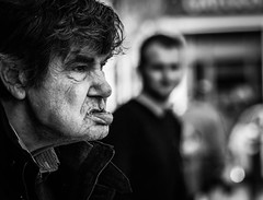 Portrait MXCL (pootlepod) Tags: street portrait blackandwhite man male monochrome closeup photography stphotographia