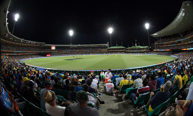 A concourse view, Australia v India