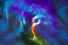 Blue (Aswath Kumar A) Tags: india up colours festivals celebration devotion holi mandir mathura vrindavan 2015 bankey bihari