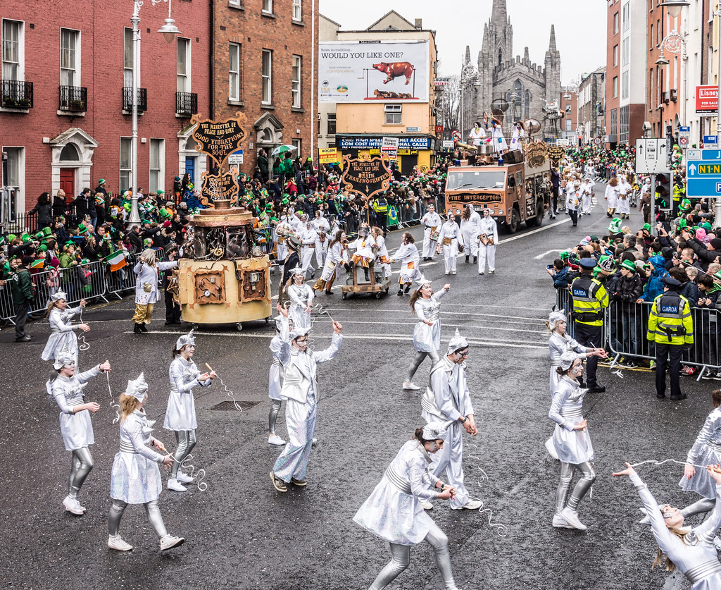 """INISHOWEN CARNIVAL GROUP """"THE MINISTRY OF PEACE AND LOVE"""" ST. PATRICK'S PARADE 2015- REF-102312"""