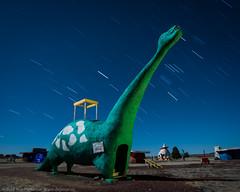 Bedrock Beast (dejavue.us) Tags: longexposure nightphotography arizona lightpainting nikon desert dinosaur fullmoon nikkor flintstones startrails bedrock d800 1835mmf3545d vle