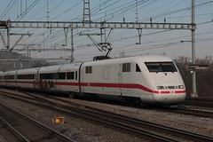 Deutsche Bahn DB ICE Intercity Express am Bahnhof Killwangen - Spreitenbach im Kanton Aargau der Schweiz (chrchr_75) Tags: chriguhurnibluemailch christoph hurni schweiz suisse switzerland svizzera suissa swiss chrchr chrchr75 chrigu chriughurni mrz 2015 chriguhurni albumbahnenderschweiz albumbahnenderschweiz201516 schweizer bahnen eisenbahn bahn train treno zug albumzzz201503mrz ice intercity express db deutsche juna zoug trainen tog tren  lokomotive  locomotora lok lokomotiv locomotief locomotiva locomotive railway rautatie chemin de fer ferrovia  spoorweg  centralstation ferroviaria