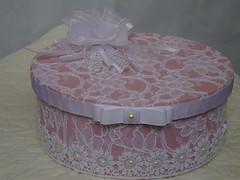 DSC09527 (Rosy M) Tags: tecido renda flordetecido caixadecorada