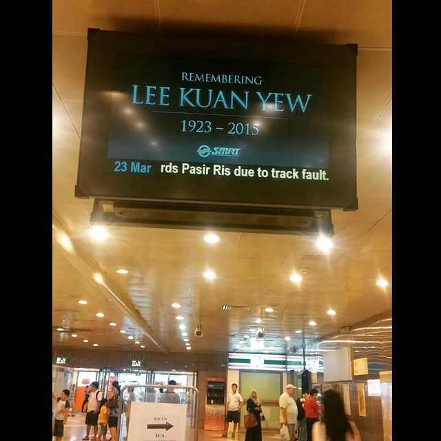 #Smrt #rememberinglky #lky #LeeKwanYew #ThankYouLKY #ThankYouLeeKwanYew #ANationMourns #sad #rip #foundingfather #sg #singapore #singaporean #inmemory #restinpeace #condolences #sgig #sg50 #night #train #greatleader #supremeleader #nationbuilder #MajulahS