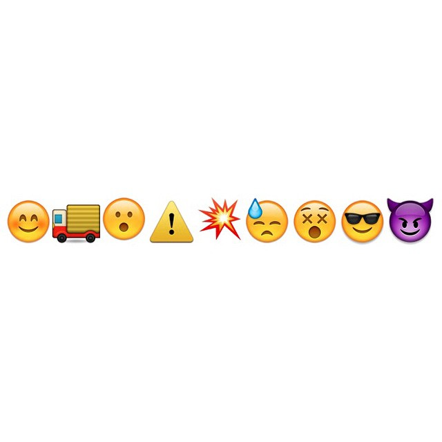 Daredevil origin story in emoji.