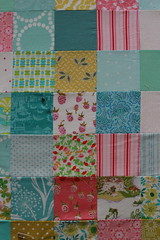 girly quilt progress - basting (frostpatterns) Tags: quilt basting