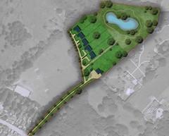 Sketch master plan for greenbelt site in Basildon.