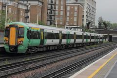 377215 (Rob390029) Tags: london station electric train track transport tracks rail railway class southern transportation rails olympia multiple emu passenger kensington unit 377 electrostar 377215