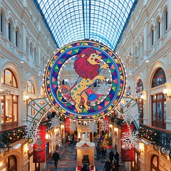 One more winter memory - New Year decor at GUM (Varvara_R) Tags: russia moscow celebration gum architecture color geotagged supershot モスクワ 莫斯科 모스크바 러시아 俄罗斯 ロシア russland moskau moscou russie