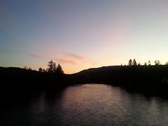The Tay (monkeyiron) Tags: bridge river scotland dusk perthshire tay mobilephone dunkeld birnam gloaming