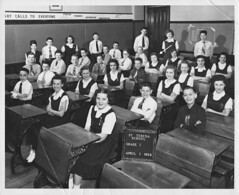 Marge St. Theresa 1952 Class Photo-HLT2 (David Zerlin) Tags: photohistory margewunder