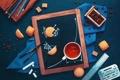 Coffee break geometry (Dina Belenko) Tags: blue food cooking coffee fun design wooden chalk cookie graphic tea drink sweet drawing geometry napkin tasty science drop delicious study frame math learning precision homework splash scheme ruler blackboard pleasure coffeebreak compasses khabarovsk nutrition coffeebeans erasershield appetizing kithen nutritionist dietetics cartesiancoordinates