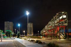 20160429-31-Auckland Viaduct Harbour at night (Roger T Wong) Tags: travel bridge newzealand people blackandwhite bw panorama monochrome bike night lights mono bars neon harbour pano restaurants viaduct bicycles auckland nz northisland yachts polo foodtruck 2016 ptgui rogertwong sonya7ii sel28f20 sonyilce7m2 sonyalpha7ii sonyfe28mmf2