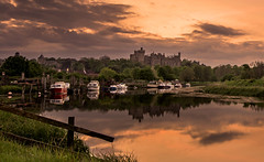 Arundel revisited (Tractorboy1981) Tags: uk sunset england castle river boats sussex arundel arun