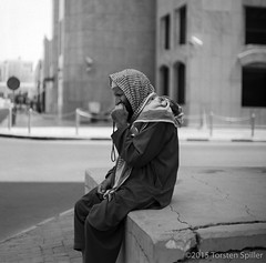 In Thoughts (Robber34) Tags: leica blackandwhite bw film analog analogue schwarzweiss doha qatar foma fomapan katar