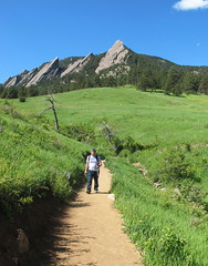 Jim at the Flatirons (chickadee23) Tags: flowers trees mountains scenery colorado hiking meadows boulder paths flatirons