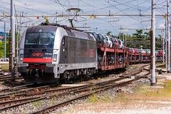 190 025 (atropo8) Tags: auto italy train nikon merci zug cargo verona treno freight veneto obb d810 bisarche 190025 railcargocarrieritalia worldrecordlivery