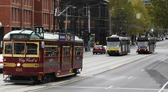 W1020 and A Couple of A Class Trams (damos photos) Tags: citycircle ptv aclass melbournetrams 2016 wclass yarratrams latrobest w1020