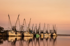 Shrimp Boats (EML.photography) Tags: sunset georgia coast shrimp brunswick marsh southgeorgia darien shrimpboats altamahariver