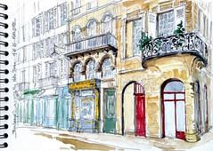 Bordeaux, rue Notre-Dame (Croctoo) Tags: usk bordeaux rencontre 2016 croctoo croctoofr croquis ville aquarelle aquitaine