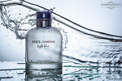 Splash Time (Hammad Khan's Photography) Tags: new light white black colour art water photography nikon colours photographer perfume flash indoor flashphotography product watersplash productphotography nikonphotography d7100