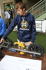 PZ20160513-015.jpg (Menlo Photo Bank) Tags: ca boy people usa sign us spring student kevin technology engineering quad science event individual atherton 2016 engaging upperschool makerfaire menloschool photobypetezivkov appliedscienceresearch