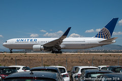First direct flight of United in Greece for 2016 ready for departure back to EWR/KEWR. (onemoregeorge.frames) Tags: nikon may greece boeing omg 767 unitedairlines ath heavies widebody 2016 lgav b763 d40x n676ua onemoregeorge