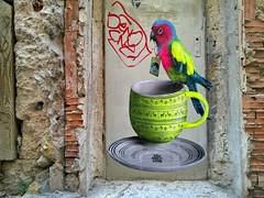 Marseille (FR) (.UNO) Tags: streetart france pasteup poster marseille neon parrot urbanart uno provence fr francia pappagallo posterart fluo marsiglia lepanier danslarue idontcareaboutuno dontcareaboutuno lepaniermarseille unostreetart