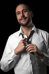 Portrait (AndiFotoGrafie) Tags: portrait people black studio person business selbstportrait krawatte mensch homestudio heimstudio